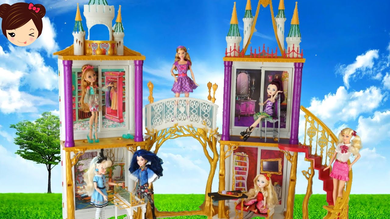 Castillo Y Escuela Para Munecas Barbies Princesas Descendientes Y