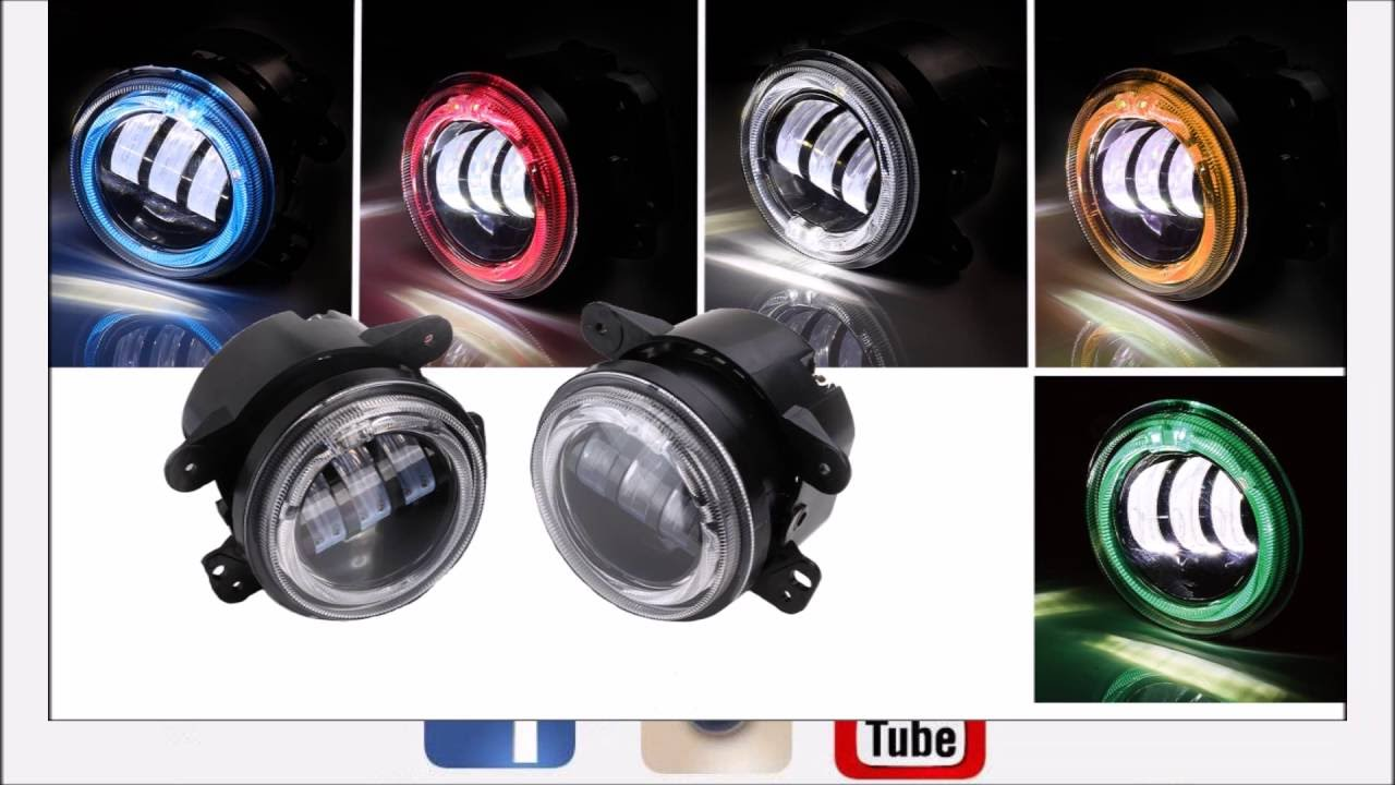 xprite 4 led fog light install for a 07 16 jeep wrangler. Black Bedroom Furniture Sets. Home Design Ideas