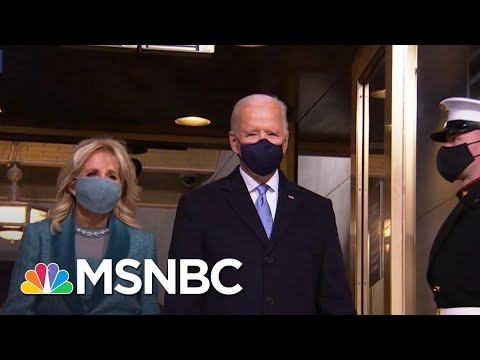 Joe Biden Arrives At Inaugural Platform To Be Sworn In As The 46th President Of The United States