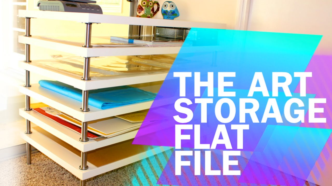 Tips U0026 Tricks #1: DIY Art Storage Flat File With Ikea!   YouTube
