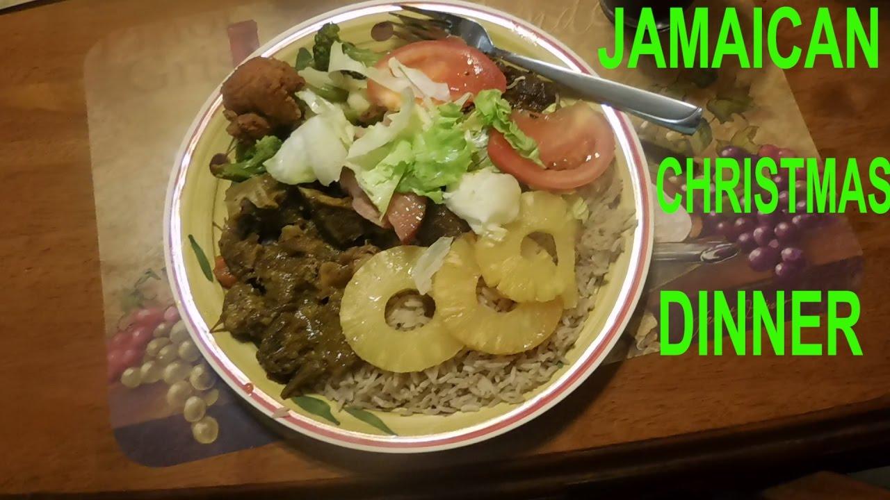 Jamaican Christmas Food.Vlog 96 Jamaican Christmas Dinner 2016 Jvlogs