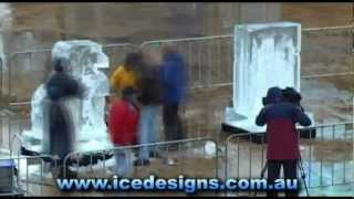 Fire And Ice - Ice Carving By Down Under Ice Designs