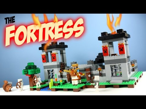LEGO Minecraft The Fortress Fall 2016 Set 21127 Adventure Build