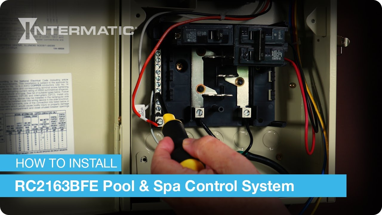 how to install the rc2163bfe pool and spa control system