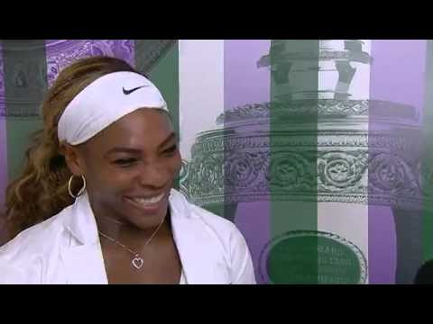 Serena Williams jokes about her crowd dive - Wimbledon 2014