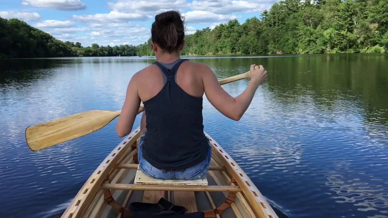 Skin on frame canoe - YouTube