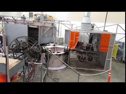 McNeil Akron Roto-Cast RC-1700-110 Turret-Style Rotational Molding Machine
