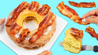 How to Make a Delicious Giant Maple Bacon Donut | Fun & Easy DIY Desserts to Try at Home!