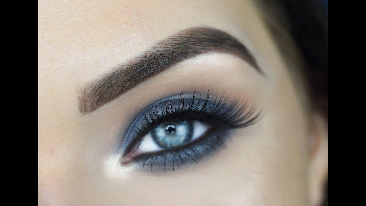deck of scarlet single eyeshadows   gray blue smokey eye