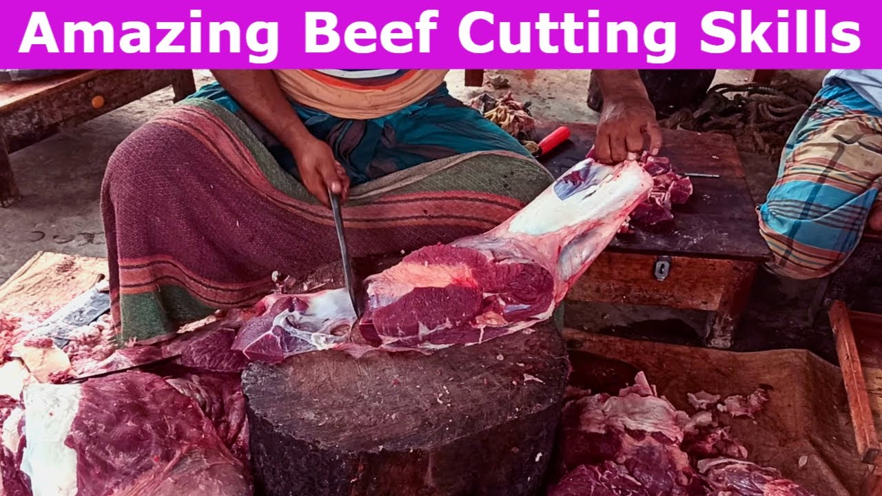 Amazing Beef Cutting Skills | Butcher Knife Skill In A Cow Meat Market | Fresh Meat Market. Part-10