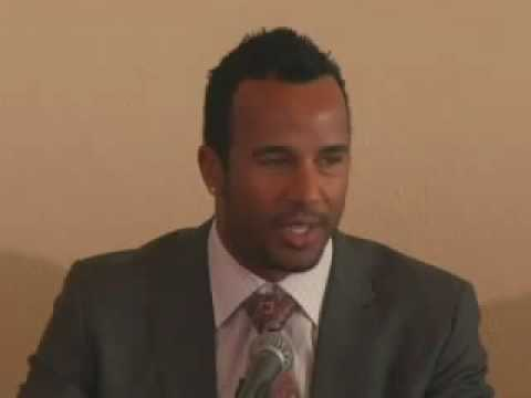 Chris Dickerson, Cincinnati Reds, at Champions for Change book launch at the United Nations HQ
