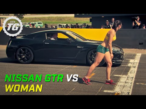 Nissan GTR Vs a Woman - Top Gear Festival Sydney