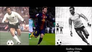Lionel Messi 91 goals in 2012 vs Godfrey Chitalu WORLD RECORD 111 goals in 1972