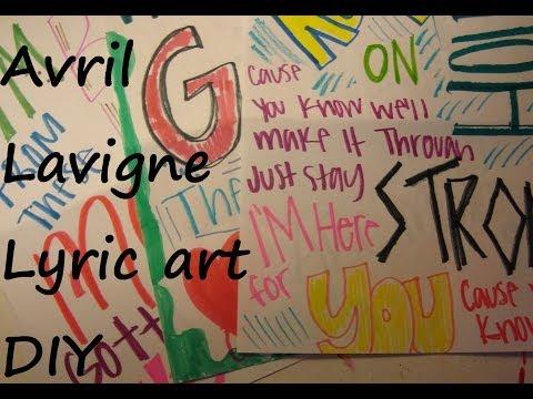Avril Lavigne lyric art DIY