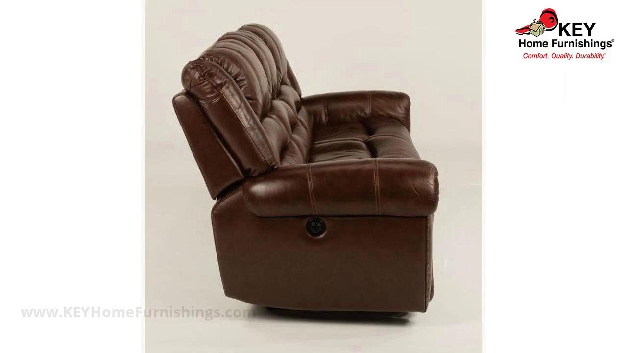 Flexsteel Crosstown Leather Reclining Sofa 1210 62p Key Home