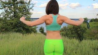 Как убрать лишний жир. Упражнения на спину,плечи.