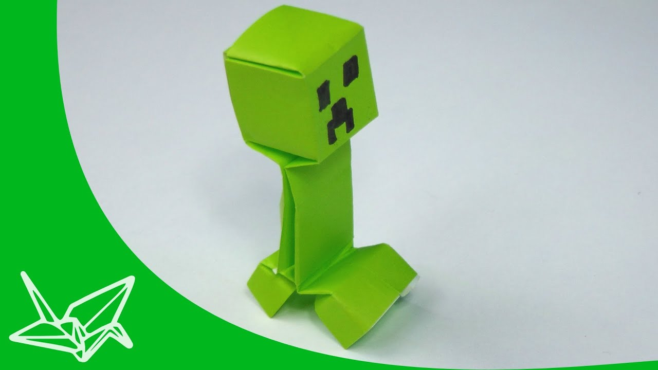 Minecraft Creeper Origami Tavins Instructions