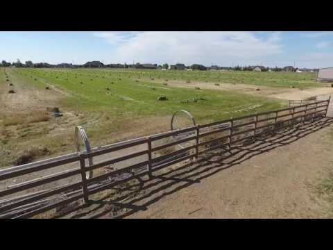New Fence Installation Flown by a Drone