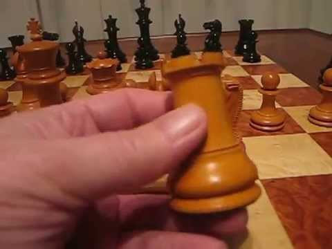 The Official Staunton Chess Company's 1851 Reproduction Staunton Antiqued Chessmen