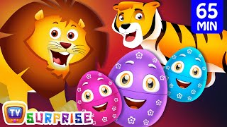Learn Wild Animals + More ChuChu TV Surprise Eggs Learning Videos SUPER COLLECTION 3