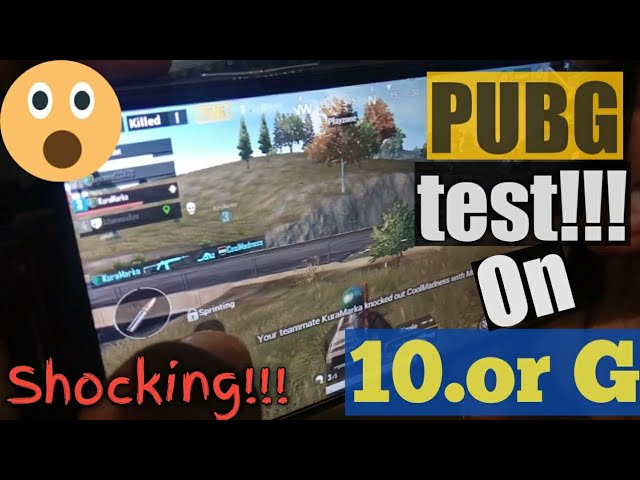 PUBG test on 10.or G!!! ???? | 10.or g gaming review | kya phone hang hua ?????????