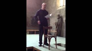 Chris Pusateri reads at Chapelle St Jean, Mulhouse France, June 2012