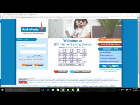 How to Register Bank of India Internet Banking Service   Tamil Banking