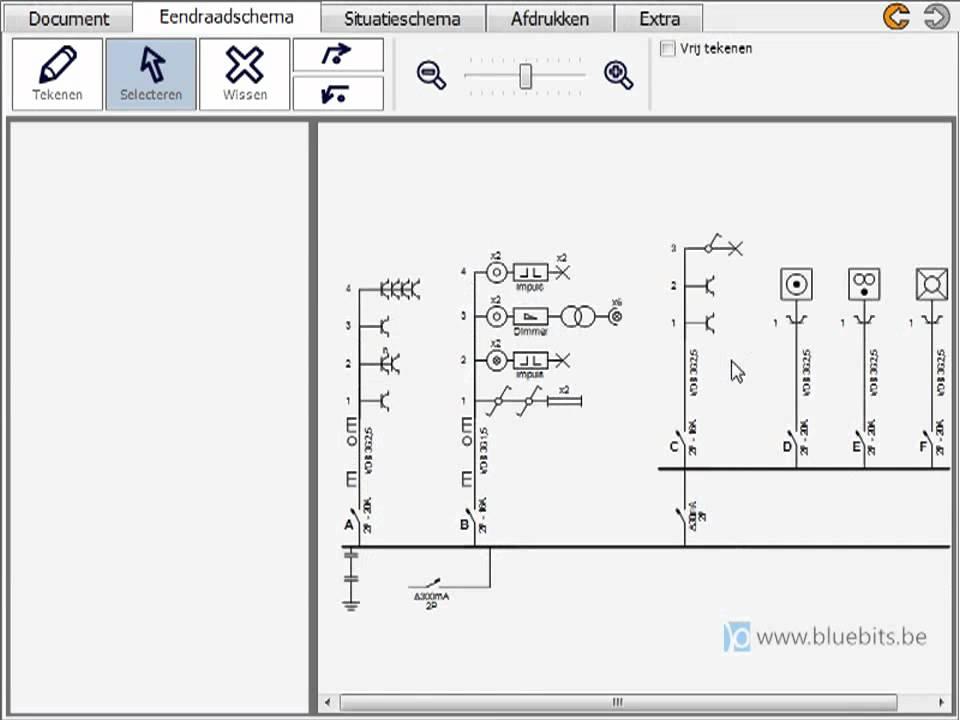 schema electrique unifilaire logiciel