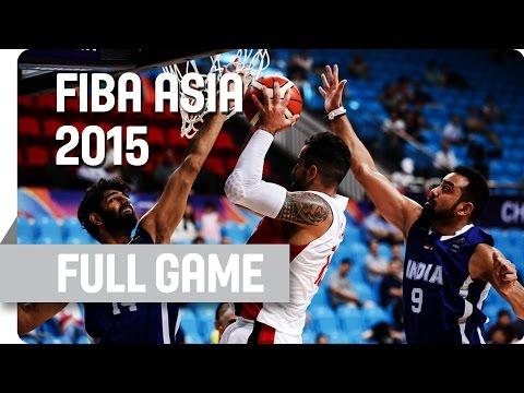 Palestine v India - Group E - Full Game - 2015 FIBA Asia Championship