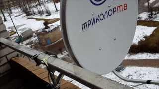Простой способ установки спутниковой тв антенны (тарелки) на балконе.