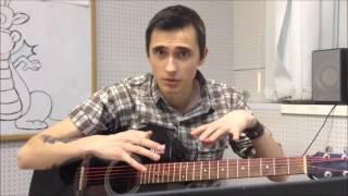 """Как Играть """"Любэ (Безруков) - Березы"""" Урок На Гитаре"""