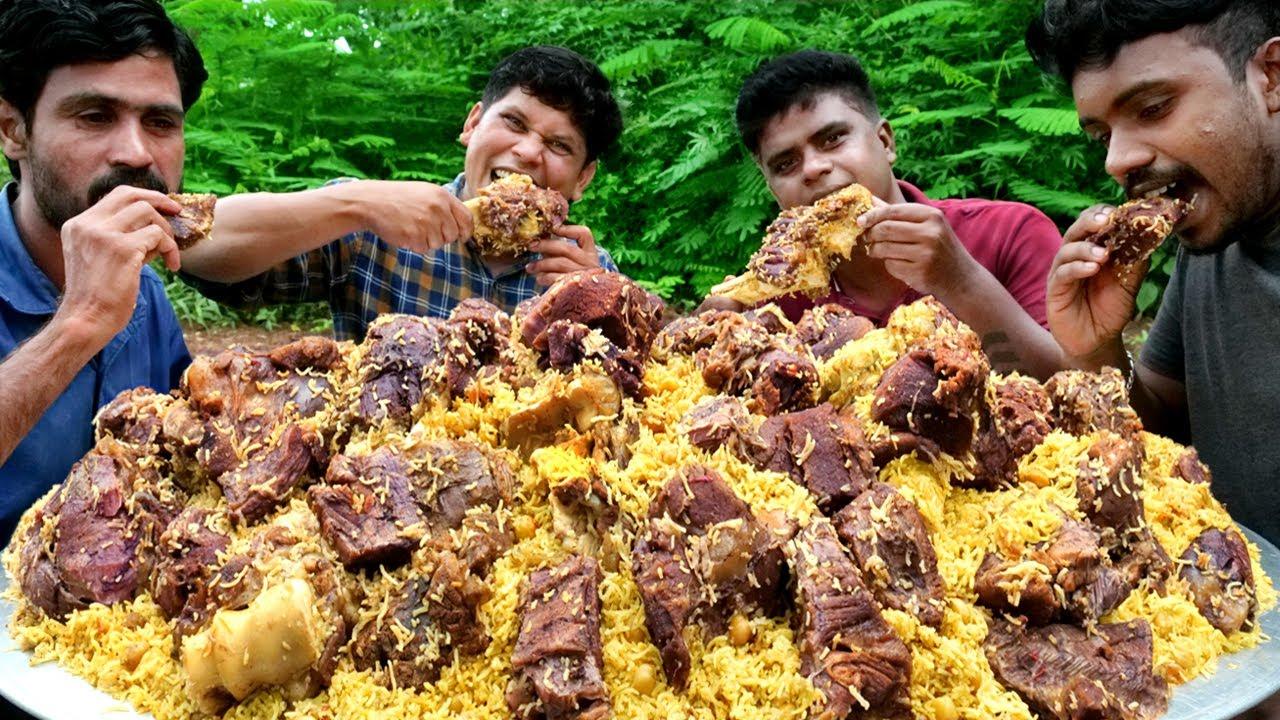 PESHAWARI CHAWAL | Pakistani GOLDEN PULAO Recipe | Cooking In Village