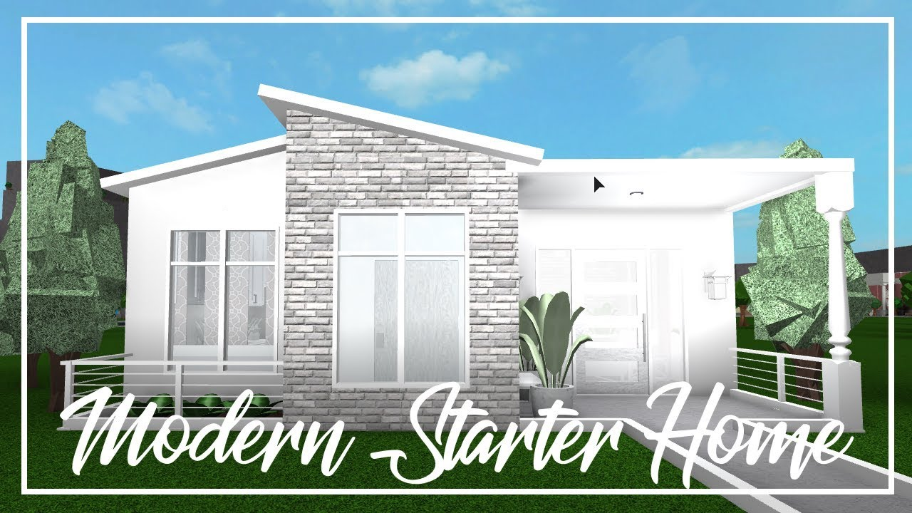 Welcome To Bloxburg: Modern Starter Home - YouTube