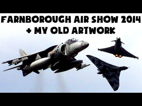 Farnborough Air Show 2014 Highlights (Eurofighter/Super Hornet/Harrier Jets & more) + My Old Artwork