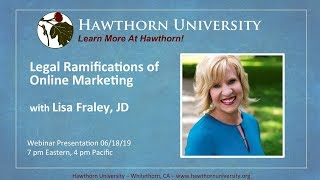 Legal Ramifications of Online Marketing with Lisa Fraley, JD