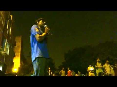 Satish, terminated worker of Honda speaks at Freedom Square JNU