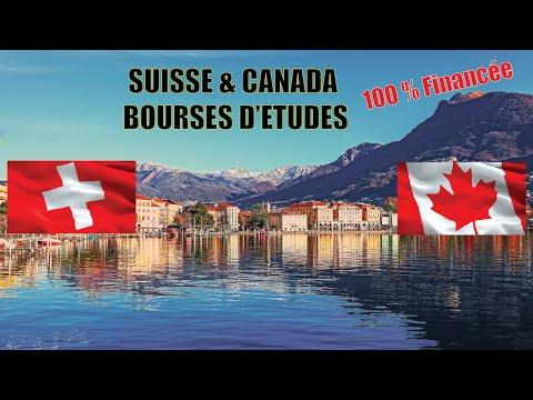 2 Bourses 100% :Suisse 🇨🇭 et Canada 🇨🇦