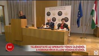 Tájékoztató az Operatív Törzs üléséről a koronavírus elleni védekezésről