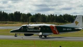 4K - Finnish Border Guard Dornier 228 takeoff at Oulu EFOU