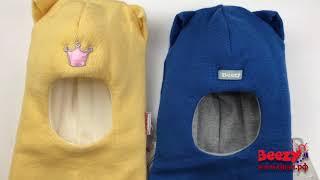 Обзор детского зимнего шлема 1450 Кошка-Кот от ТМ Beezy