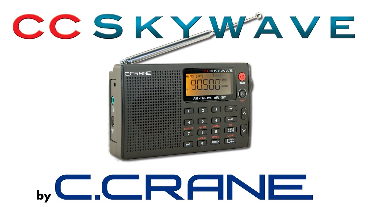 CC Skywave AM, FM, Shortwave, Weather + Alert and VHF Airband Small