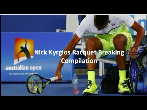Nick Kyrgios Racquet Breaking Compilation
