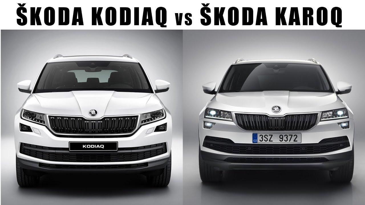 ŠKODA KAROQ vs ŠKODA KODIAQ - YouTube