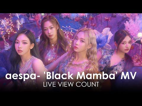 aespa 에스파 'Black Mamba' MV Live view count