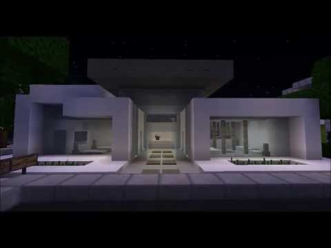 minecraft tour 1 casa minimalista youtube