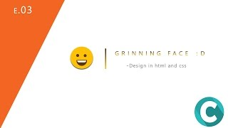 grinning face design in html and css (E.03)