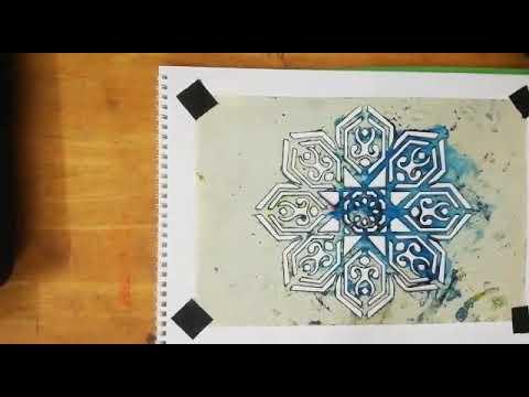 الطباعة بالتفريغ الإستنسل للصف الخامس الابتدائي Youtube