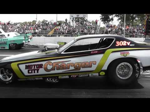 Detroit Thunder &  Motor City Charger Milan Nostalgia Drags 09 26 2015