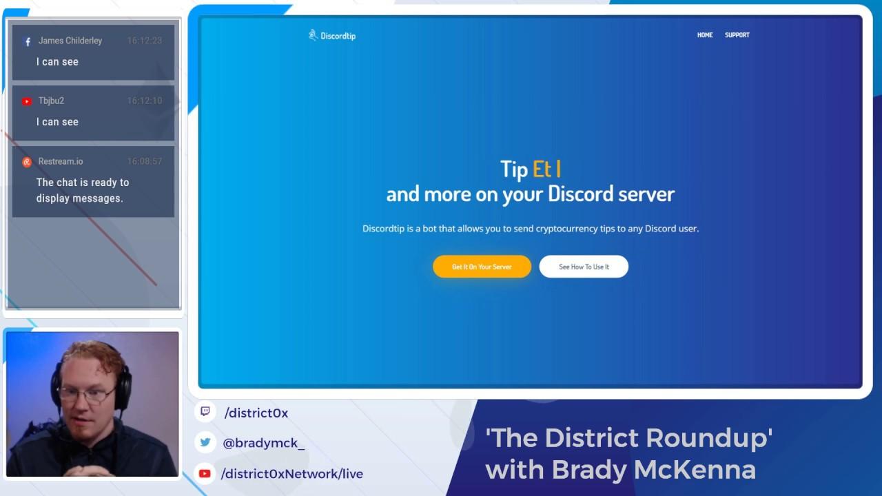 District Roundup | DiscordTip & Community Announcements