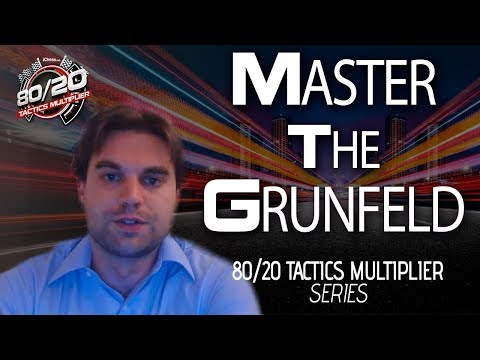 Master The Grunfeld with US Chess Champion Sam Shankland - 80/20 Tactics Multiplier
